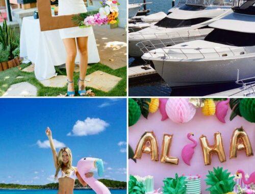 Get your aloha on with a Hawaiian yacht party
